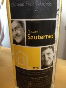 Château Pick Laborde cuvée « Instant Sauternes » 2011 – Sauternes