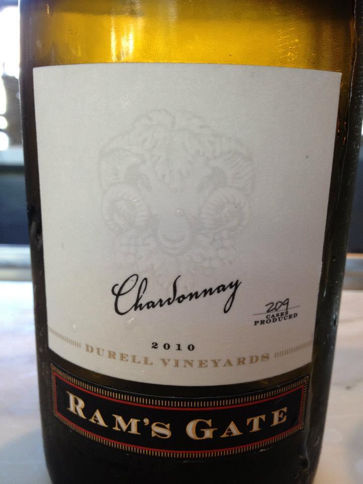 Ram's Gate Winery – Chardonnay 2010 – Sonoma – Coast Durell Vineyards