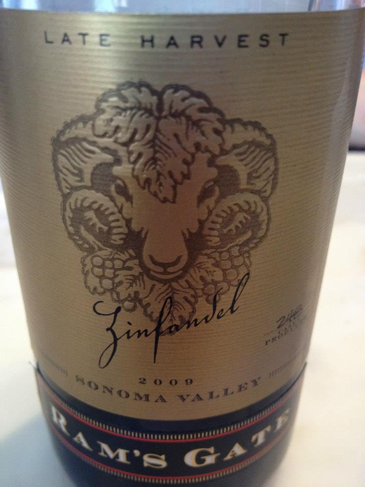 Ram's Gate Winery – Zinfandel (vendange tardive) 2009 – Sonoma
