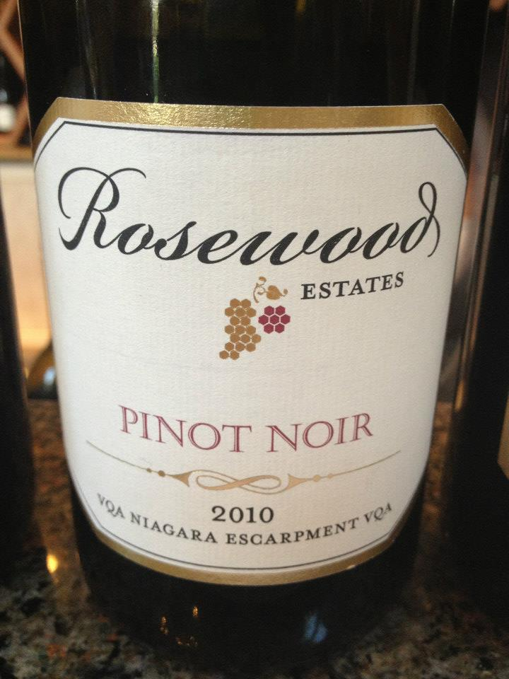 Rosewood Estates Winery – Pinot Noir 2010 – Niagara Escarpment