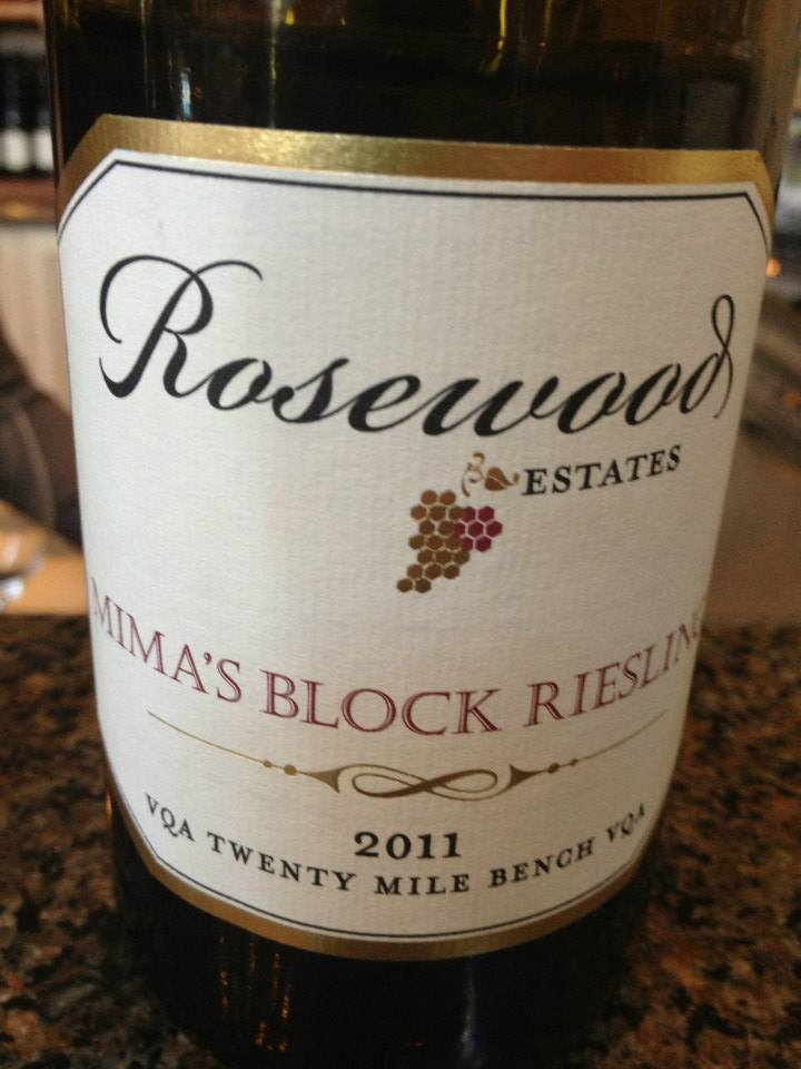 Rosewood Estates Winery – Mima's block Riesling 2011 – Twenty Mile Bench