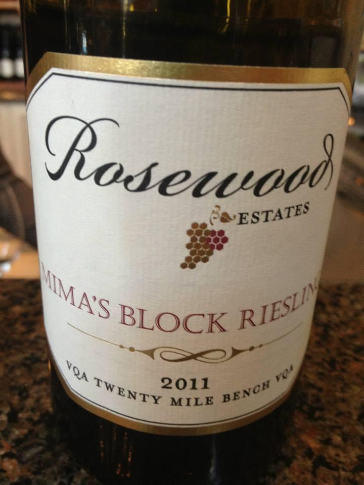 Rosewood Estates Winery – Mima's block Riesling 2011 – Twenty Mile Bench