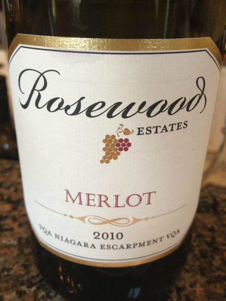 Rosewood Estates Winery – Merlot 2010 – Niagara Escarpment