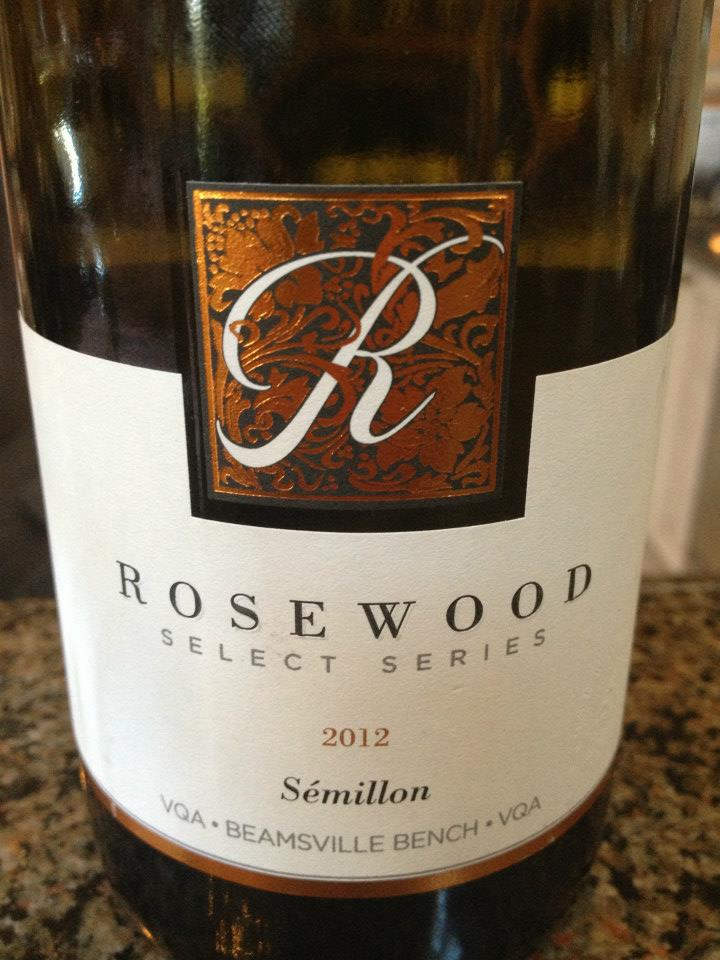 Rosewood Estates Winery – Select Series – Semillon 2012 – Beamsville Bench