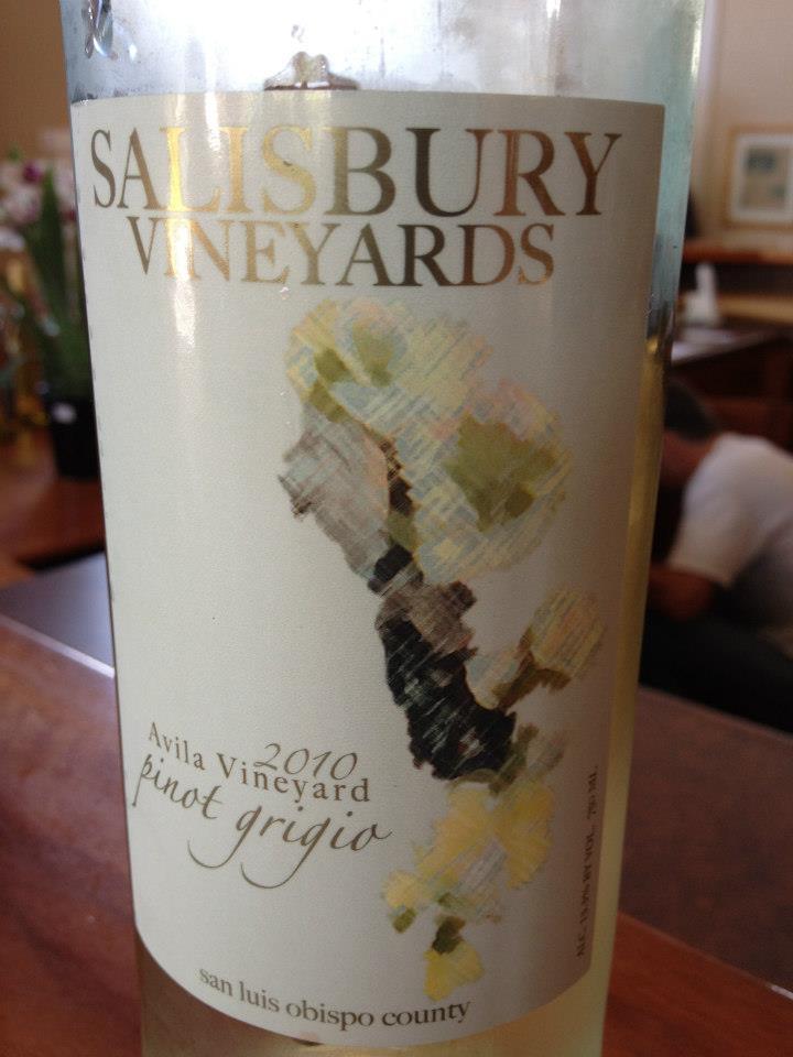 Salisbury Vineyards – Pinot Grigio 2010 – San Luis Obispo County