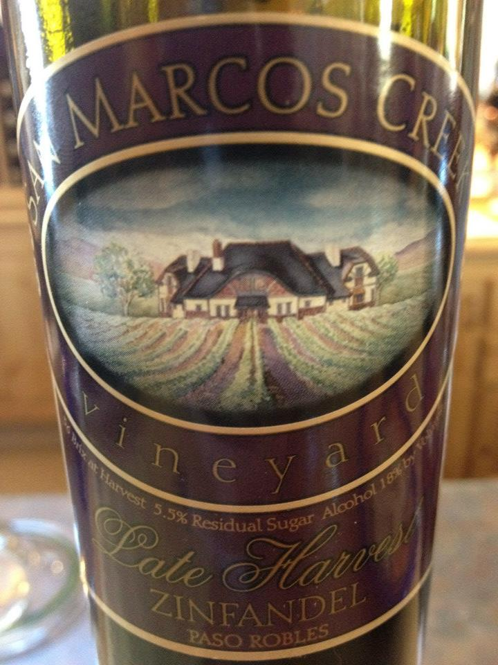San Marcos Creek vineyard – Late Harvest Zinfandel 2010 – Paso Robles