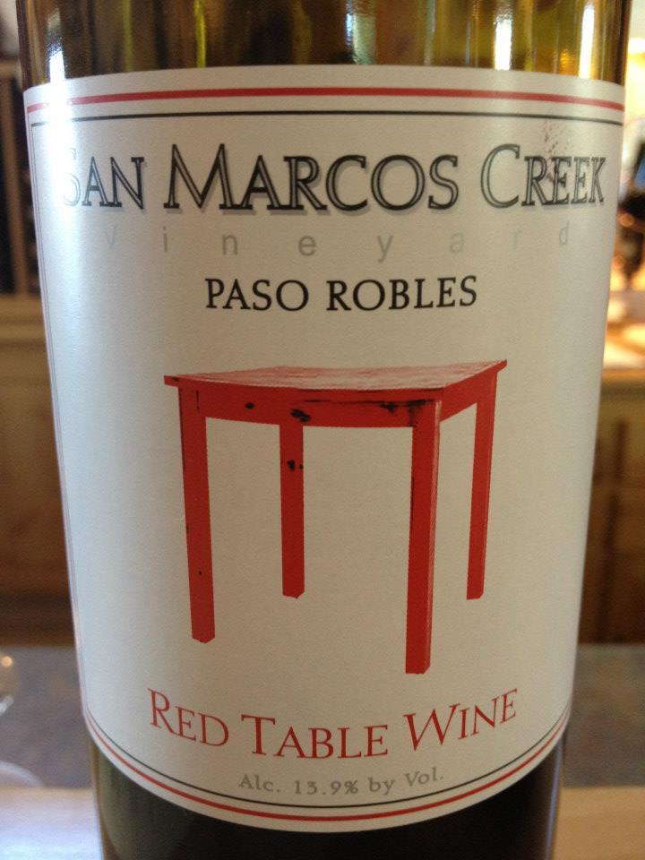 San Marcos Creek vineyard – Red Table Wine
