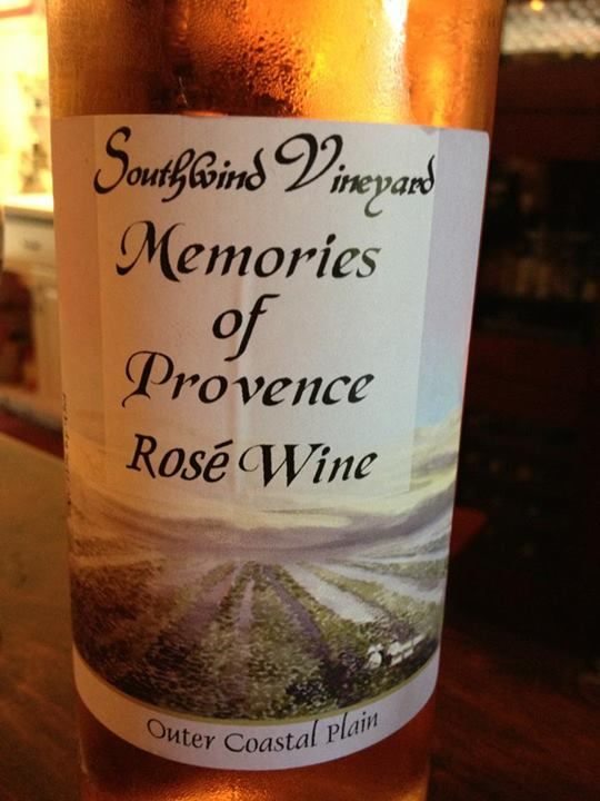 Southwind Vineyard & Winery – Memories of Provence 2012 –Outer Coastal Plain