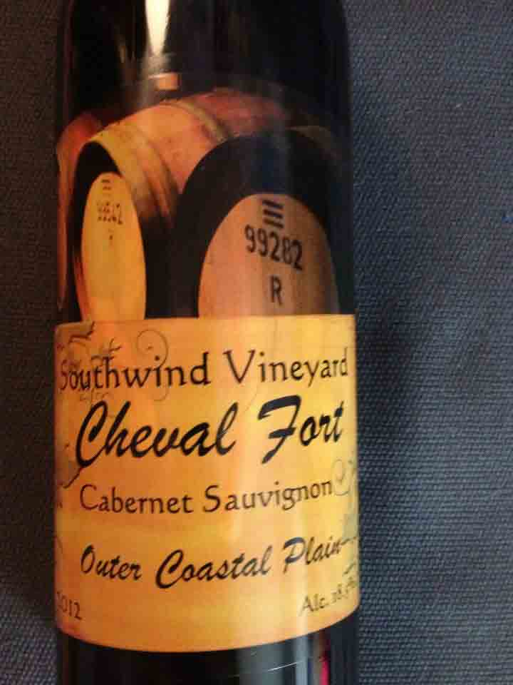Southwind Vineyard & Winery – Cheval Fort 2012 – Outer Coastal Plain