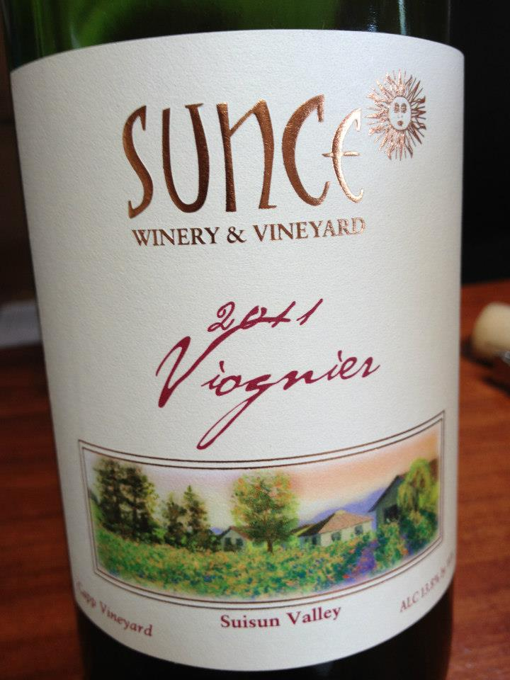 Sunce Winery – Viognier 2011 – Suisun Valley – Sonoma