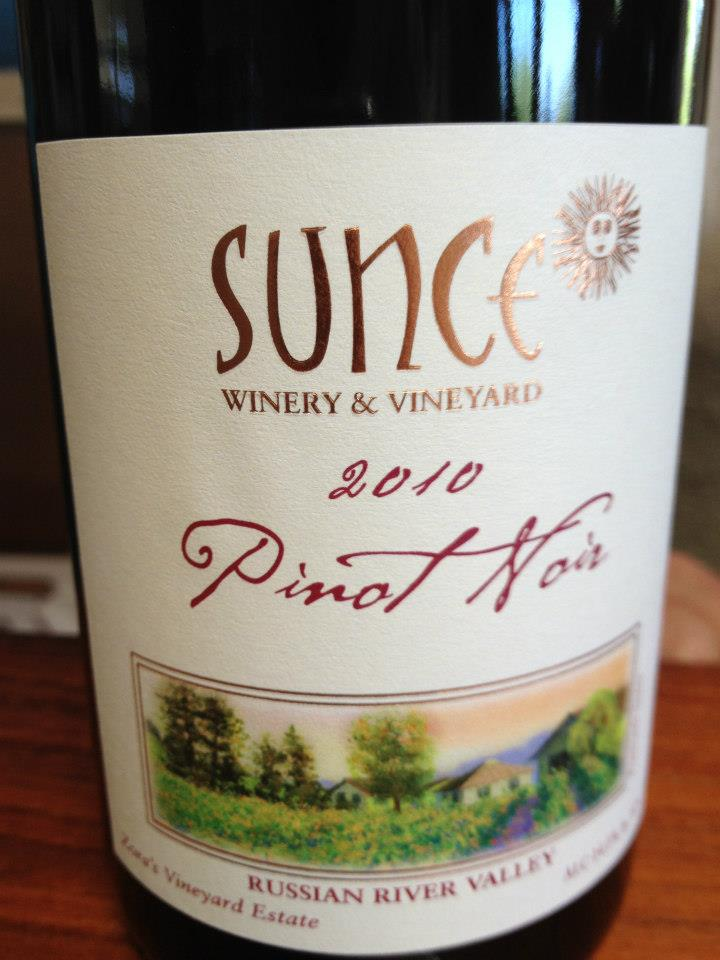 Sunce Winery – Pinot Noir 2010 – Russian River Valley – Sonoma