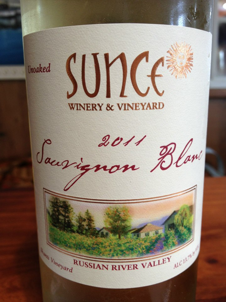 Sunce Winery – Sauvignon Blanc 2011 – Russian River Valley – Sonoma
