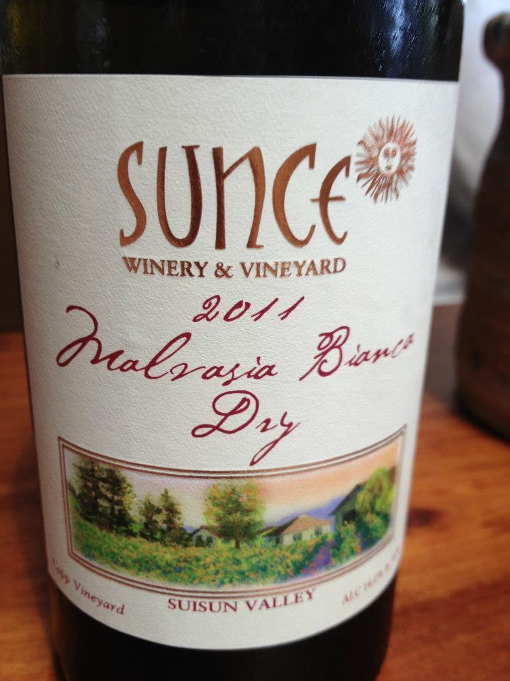 Sunce Winery – Malvasia Bianca Dry 2011 – Suisun Valley – Sonoma