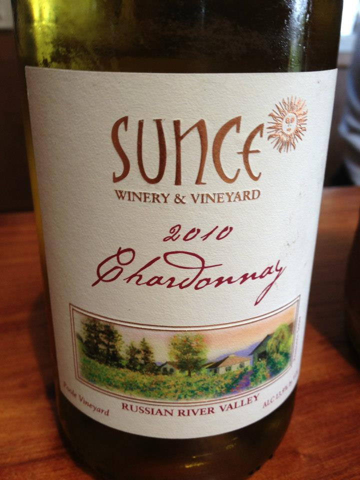 Sunce Winery – Chardonnay 2010 – Russian River Valley – Sonoma