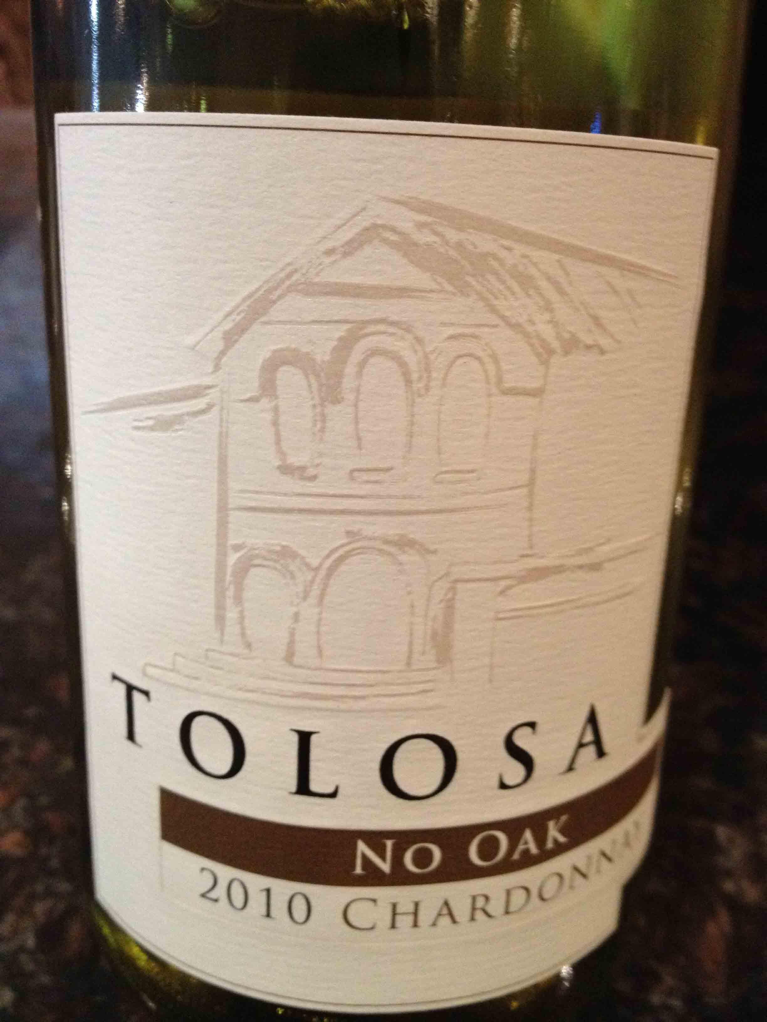 TOLOSA – Chardonnay NO OAK 2010 – Edna Valley – South Coast
