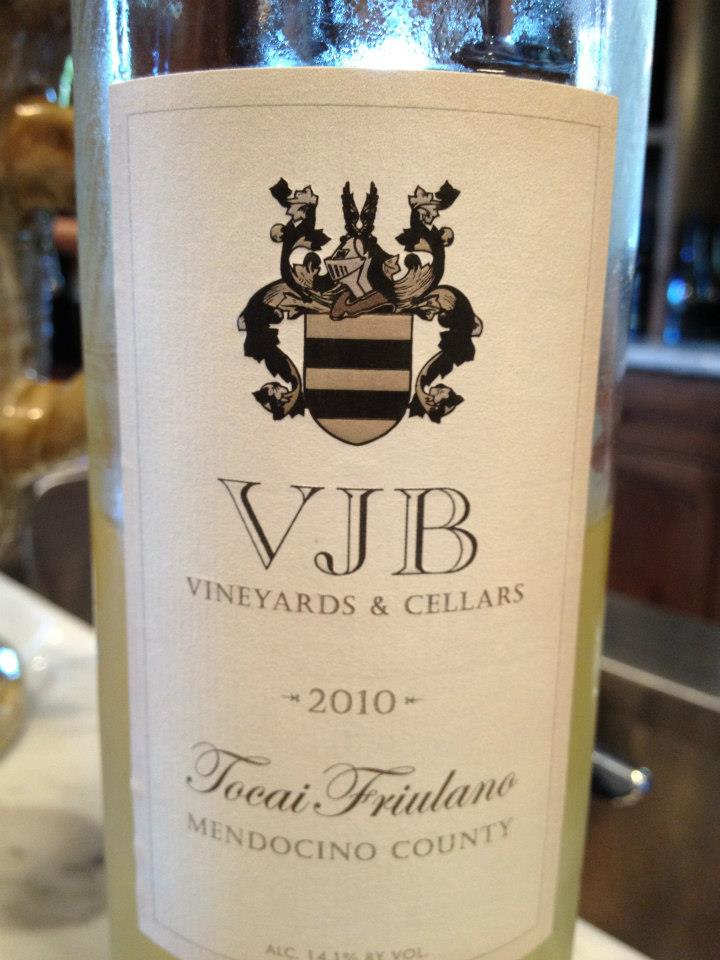 VJB Winery – Tocaï Fruilano 2010 – Mendocino County