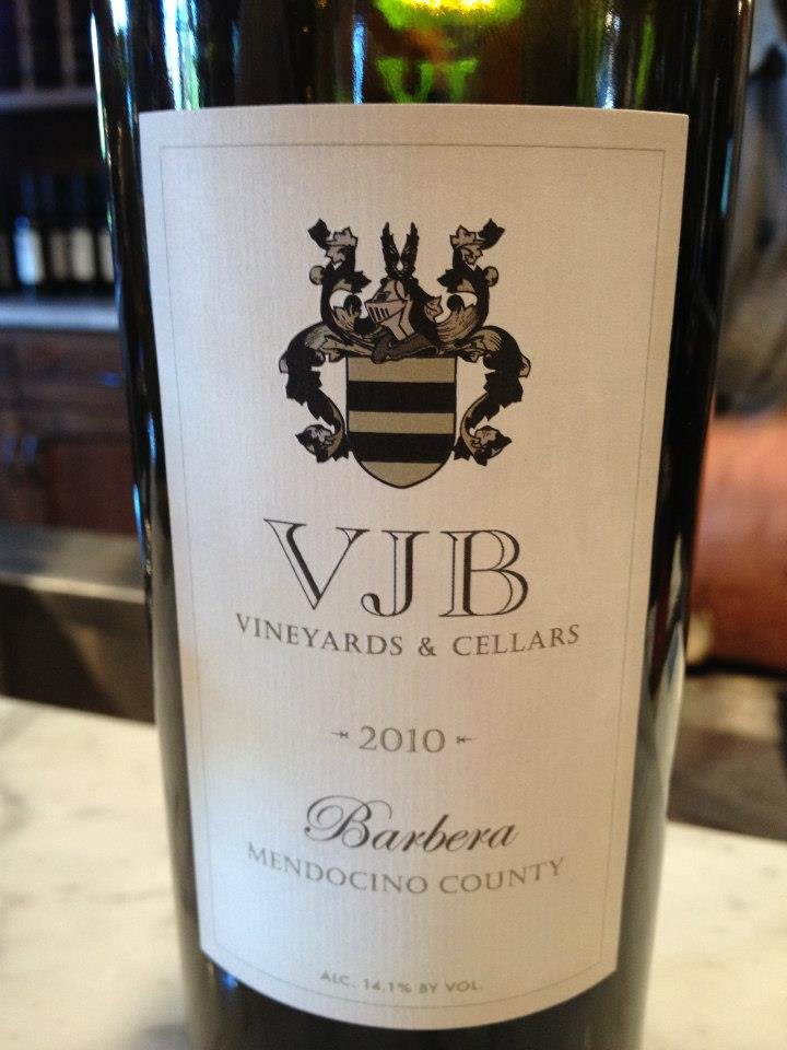 VJB Winery – Barbera 2010 – Mendocino County