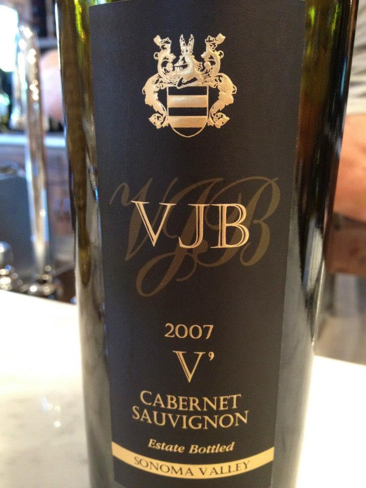 VJB Winery – V' 2007 – Cabernet Sauvignon – Sonoma Valley