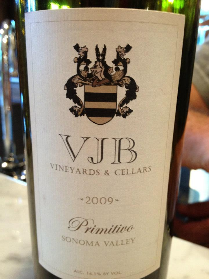 VJB Winery – Primitivo 2009 – Sonoma Valley