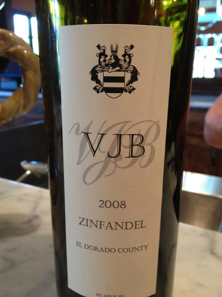 VJB Winery – Zinfandel 2008 – El dorado County