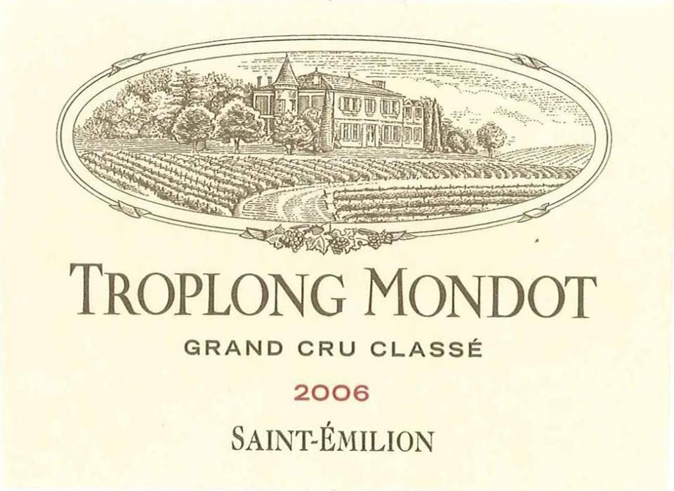 Château Troplong Mondot 2006 – 1er Grand Cru Classé de Saint-Emilion