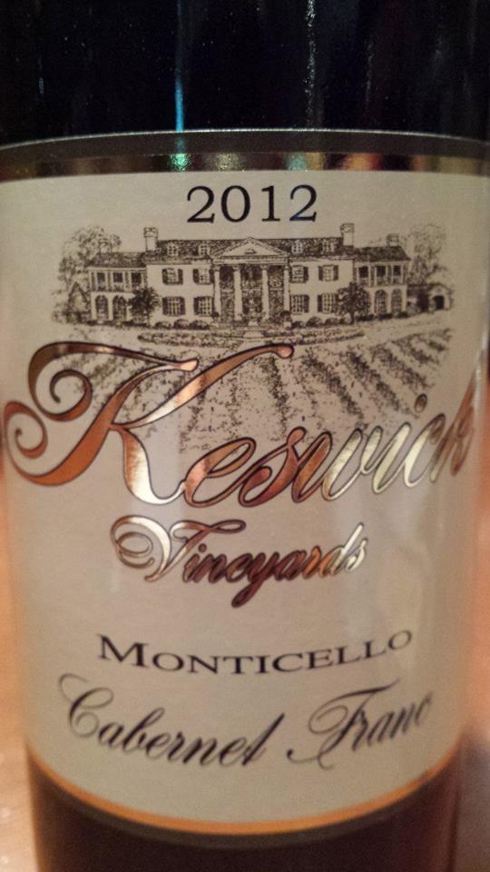 Keswick Vineyards – Cabernet Franc 2012 – Monticello