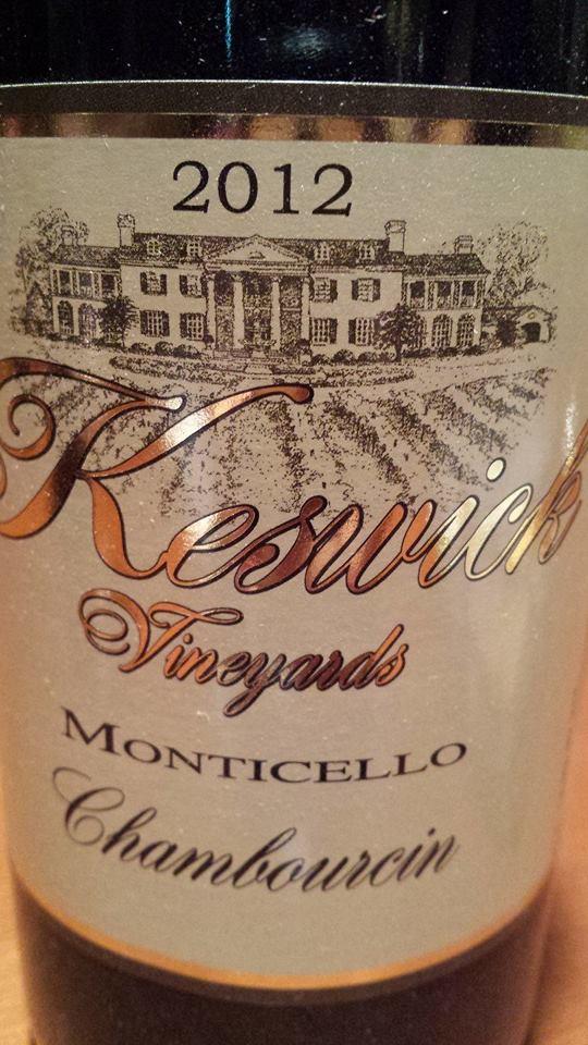 Keswick Vineyards – Chambourcin 2012 – Monticello