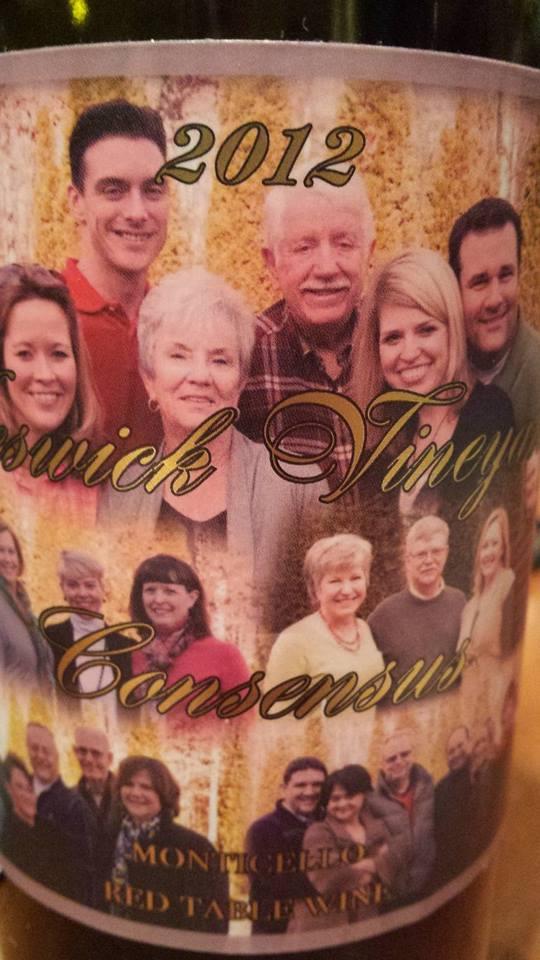 Keswick Vineyards – Consensus 2012 – Monticello
