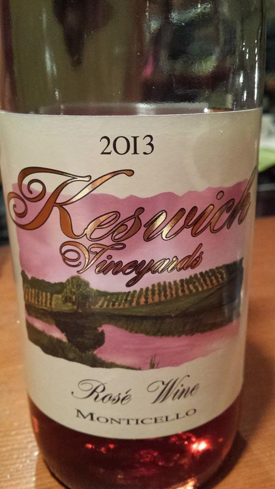Keswick Vineyards – Rosé Wine 2013 – Monticello