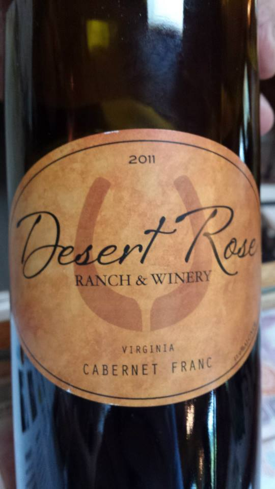 Desert Rose Ranch & Winery – Cabernet Franc 2011 – Virginia