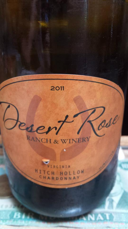 Desert Rose Ranch & Winery – Hitch Hollow Chardonnay 2011 – Virginia