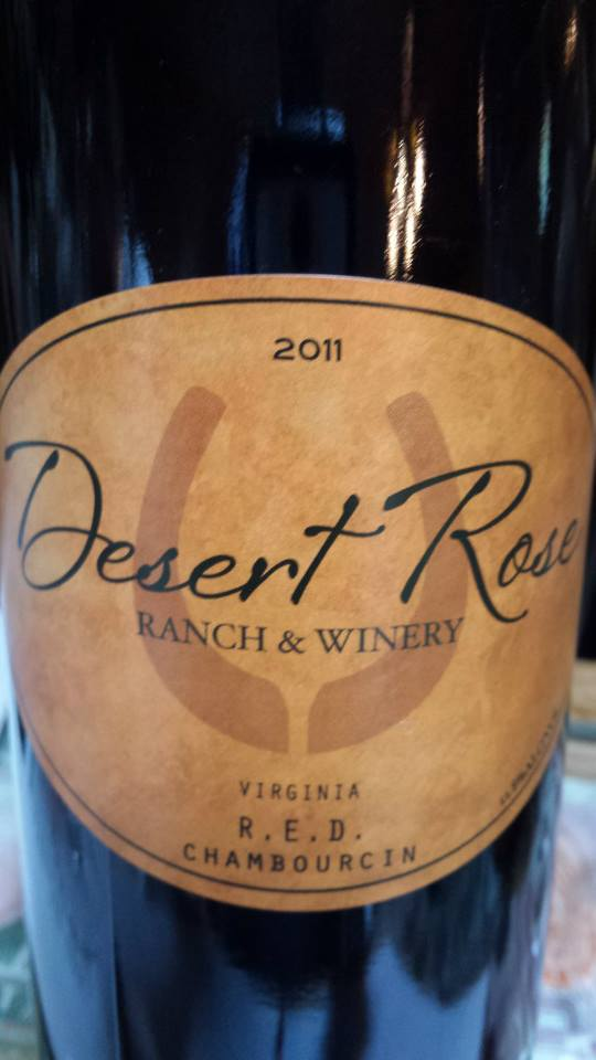 Desert Rose Ranch & Winery – R.E.D. Chambourcin 2011 – Virginia