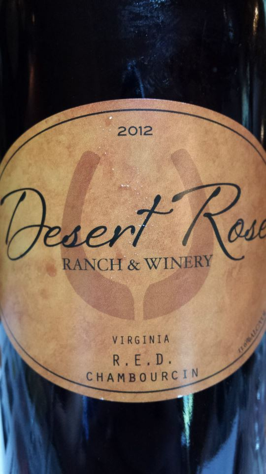 Desert Rose Ranch & Winery – R.E.D. Chambourcin 2012 – Virginia
