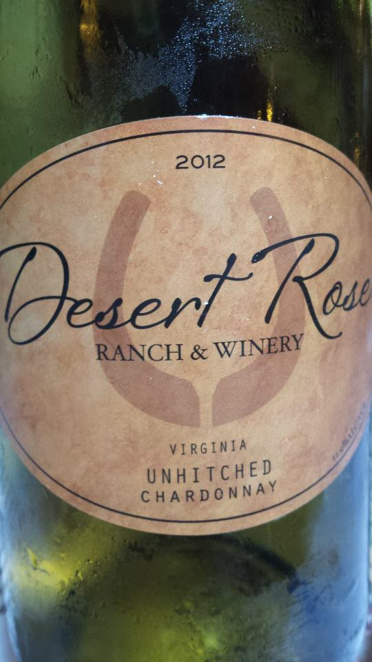 Desert Rose Ranch & Winery – Unhitched Chardonnay 2012 – Virginia