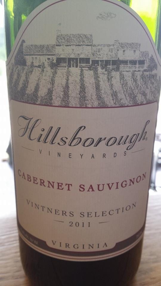 Hillsborough Vineyards – Cabernet Sauvignon 2011 – Vintners Selection – Northern Virginia
