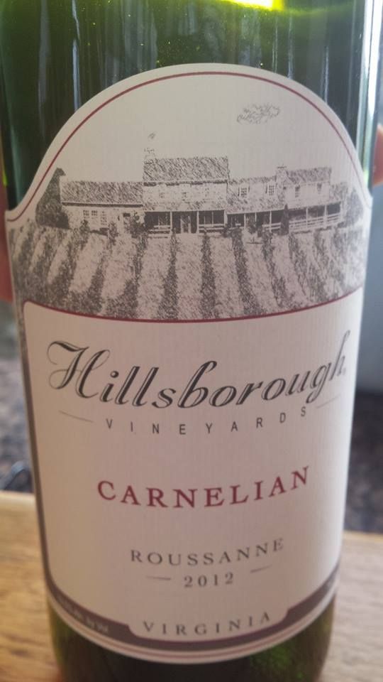 Hillsborough Vineyards – Carnelian 2012 – Northern Virginia