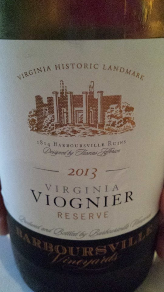 Barboursville Vineyards – Viognier Réserve 2013  Monticello – Virginia