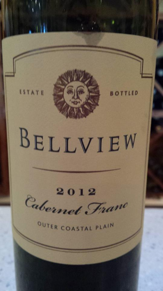 Bellview Winery – Cabernet Franc 2012 – Outer Coastal Plain