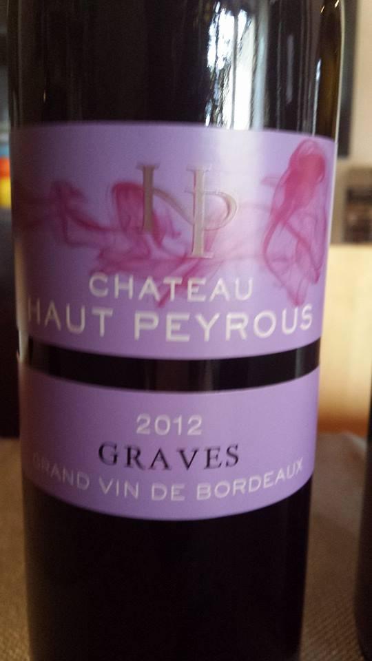 Château Haut Peyrous – L'Epicurien 2012 – Graves