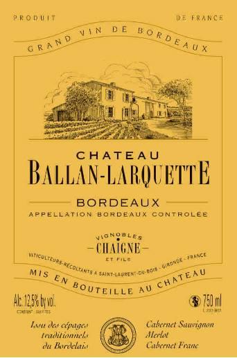 Château Ballan-Larquette 2010 – Bordeaux
