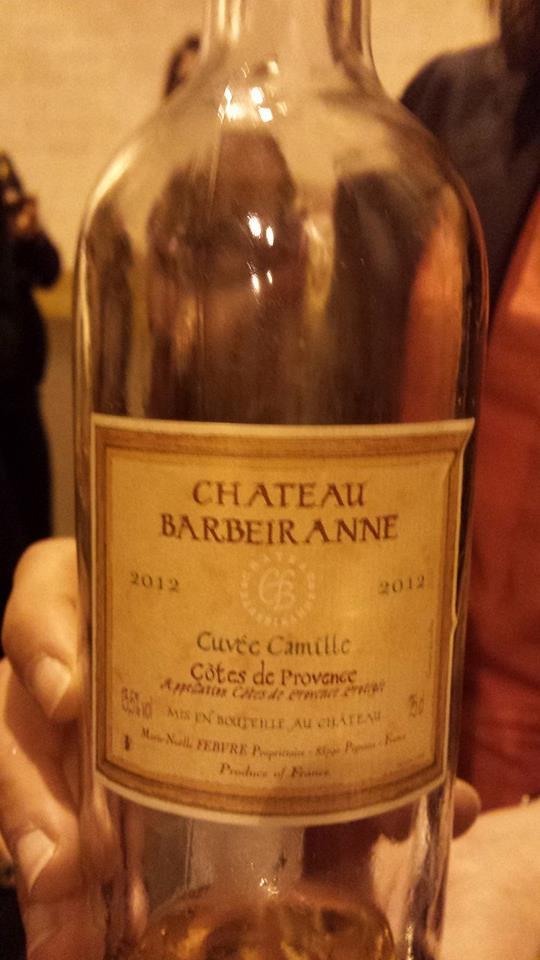 Château Barbeiranne – Cuvée Camille 2012 – Côtes de Provence
