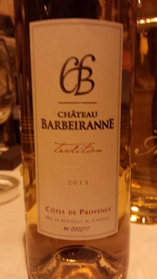 Château Barbeiranne – Cuvée Tradition 2013 – Côtes de Provence