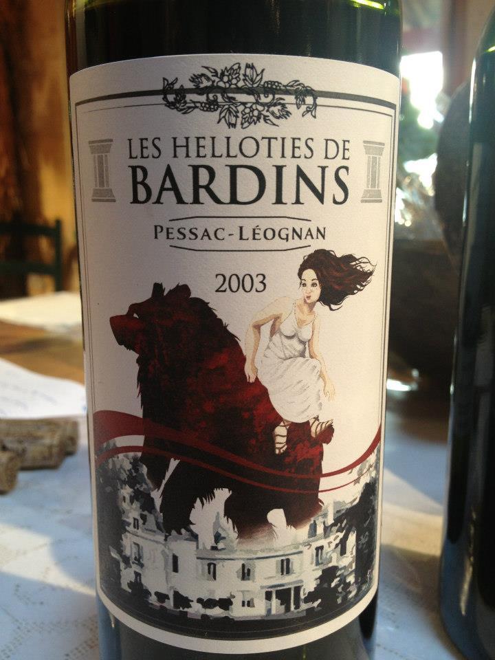 Les Helloties de Bardins 2003 – Pessac Leognan