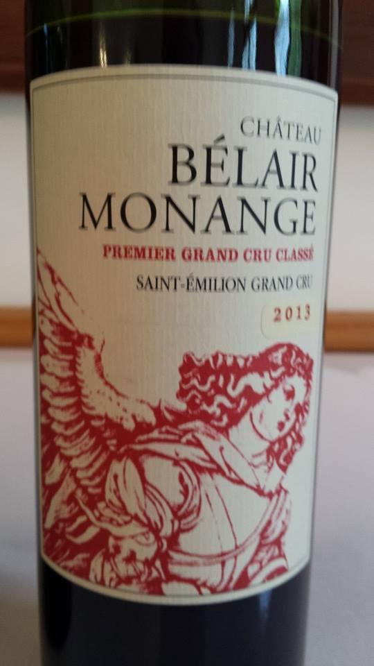 Château Bélair Monange 2013 – 1er Grand Cru Classé B, Saint-Emilion Grand Cru
