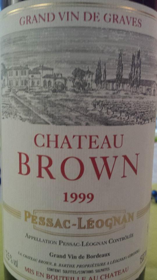 Château Brown 1999 – Pessac-Léognan