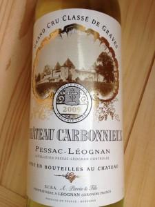 Château Carbonnieux 2009 – Grand Cru Classé de Graves – Pessac-Léognan (white)