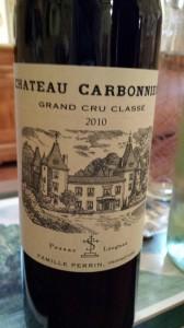 Château Carbonnieux 2010 – Grand Cru Classé de Graves – Pessac Léognan (rouge)