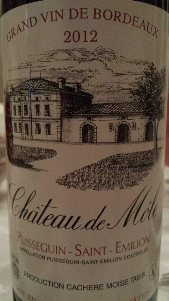 Château de Môle 2012 – Puisseguin Saint-Emilion (vin casher)