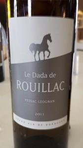 Le Dada de Rouillac 2011 – Pessac Léognan (white)