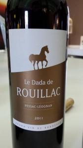 Le Dada de Rouillac 2011 – Pessac Léognan (red)
